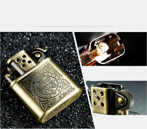 Constantine ZORRO Copper Cigarette Lighter Gasoline Vintage Kerosene For Gas Lighter Grinding Wheels Fire Lighter