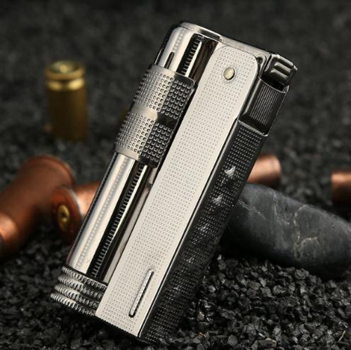 Austria IMCO 6700 Gasoline Lighter Torch Fire Vintage Petrol Refillable Stainless Steel