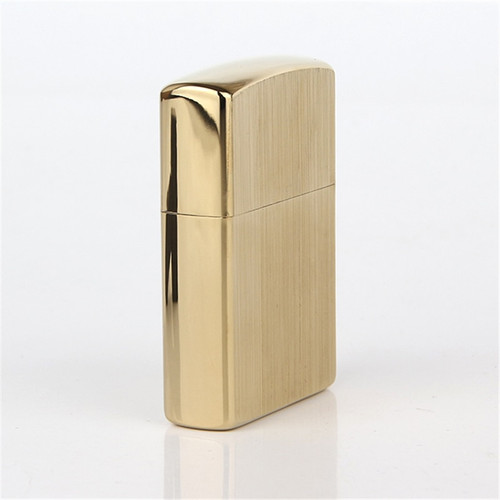 Free shipping Cigarette Accessories Copper material oil lighter Simple gold stripes Metal kerosene lighters