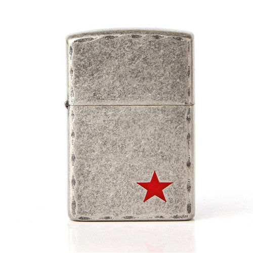 Cigarette Accessories 2018 new fashion Copper material Red star oil lighter Metal kerosene lighters Z8466A