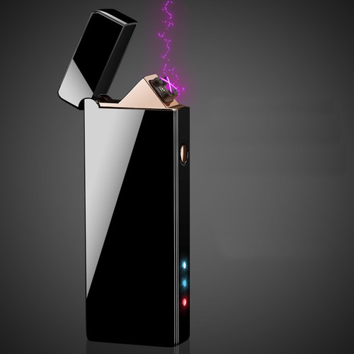 2018 New Double Arc Lighter Windproof Electronic USB Recharge Lighter Cigarette Smoking Cigar Electric Lighter