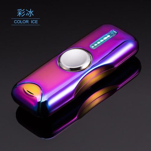 No Gas Cigar Lighter Finger Toy Gyro Flash Tri-Spinner Electronic Cigarette Hand Fidget Spinner USB Charging Lighters