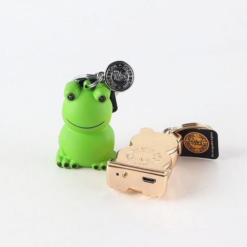 Cigarette accessories Frog shape pendant charging lighters USB windproof cigarette lighter