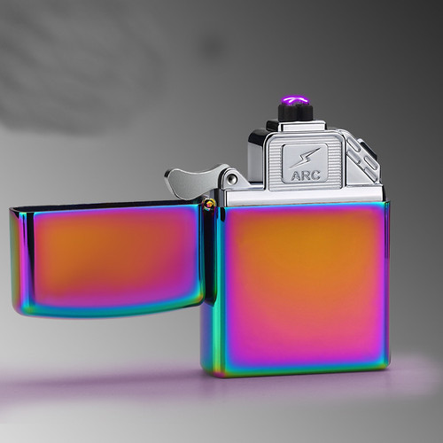 2018 New USB Lighter Electric Pulse Double Arc Cigarette Lighter Windproof Thunder Metal Cigarette Plasma Flameless Cigar