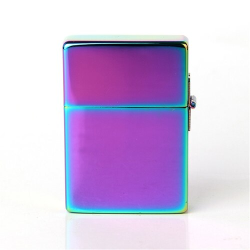 Free shipping Cigarette Accessories Genuine Zorro kerosene lighters Copper material Metal Square piece shape purple oil lighter
