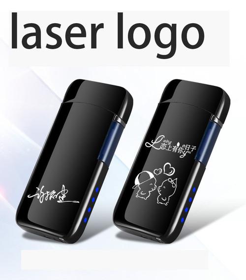Plasma Lighter Free Laser Logo Flip up USB Lighter Cigarette Lighter Double Arc Electronic Lighter For Smoking