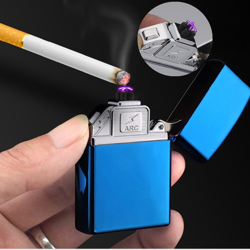 New USB Arc Lighter Electronic Dual Arc Cigarette Lighter Windproof Rechargeable Plasma Cigar Lighter New Year Gifts For Men