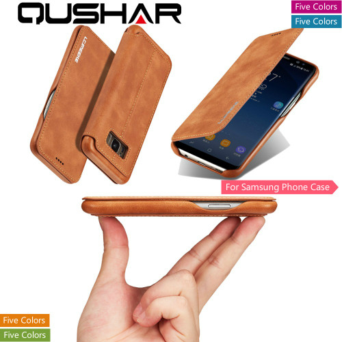 Fundas Case For Samsung Note 8 S9 S8 Plus Luxury Flip Phone Coque Leather Bag Samsun S7 Edge Stand Book Wallet Card Back Cover