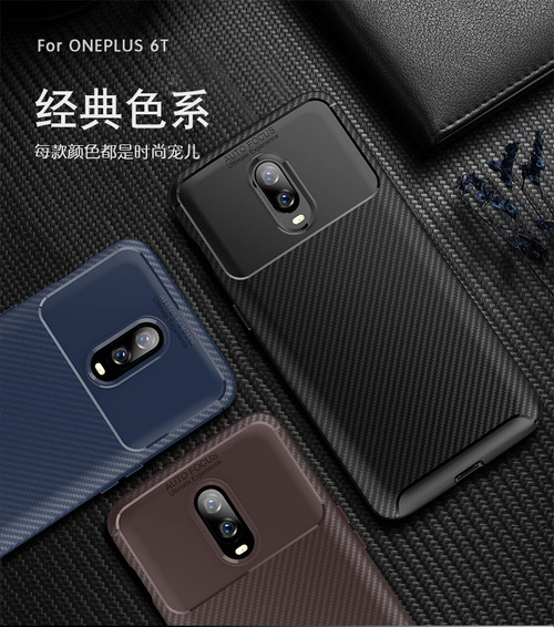 OnePlus 6T Case carbon fiber Shock proof soft tpu silicone Back Cover case for Oneplus 6 6T One Plus 6T A6013 Accessories 1+6T