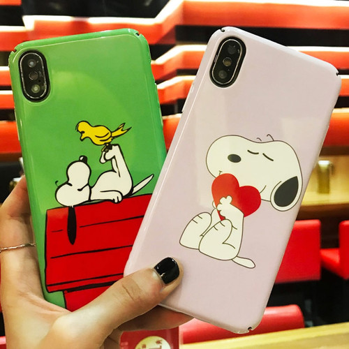 Cartoon Snoopys Phone Case For iPhone 7 8 Plus Luxury Case For iPhone X 6 6s Plus Case Cute Dog Soft TPU Cover Coque For iPhoneX