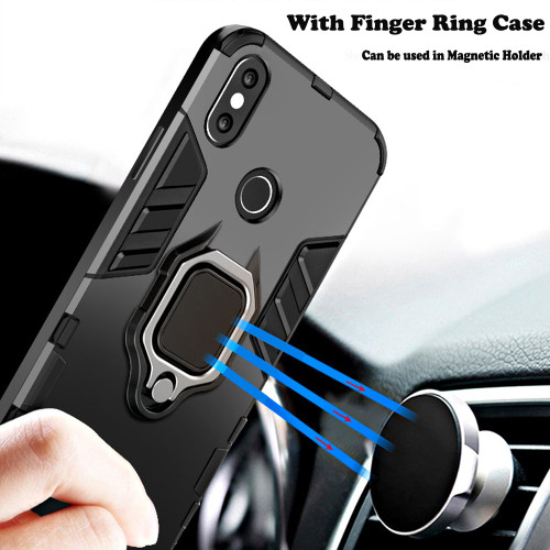 KISSCASE Shockproof Armor Case For iPhone 6 6S 7 8 Plus XS Case For iPhone X 5 5S Se XS Xs Max XR Finger Ring Holder Phone Cover