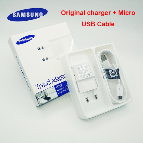 Original Samsung USB Charger Travel Adapter 5V 2A 100cm / 150cm Micro USB Cable Samsung Galaxy S6 S7 Edge J3 J5 J7 Note 5 A3 A5