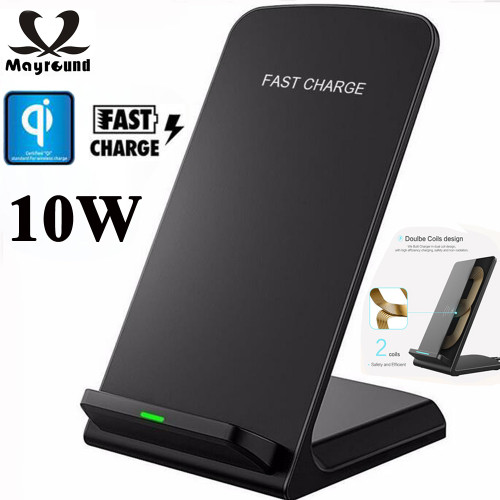 MAYROUND Qi Wireless Charger 10W Fast Charging Pad Station For Samsung Galaxy Note 9 8 S8 Plus S9 Plus S9+ For iPhone XS 8 Plus