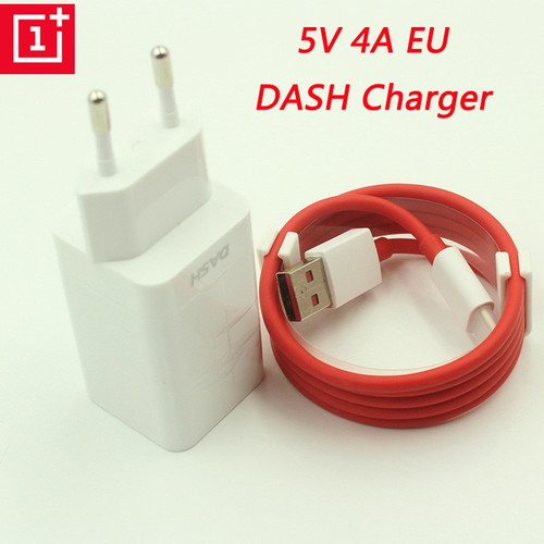Original ONEPLUS Dash Charger 5V 4A EU USB Fast Charger Adapter, USB 3.1 Quick Charge Data Dash Cable For Oneplus 3 3T 5 5T 6