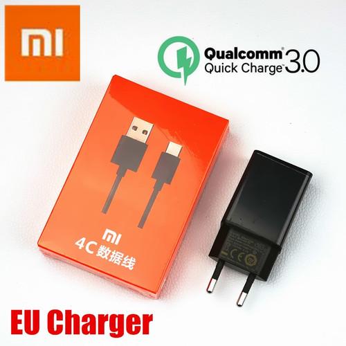 EU XIAOMI mi max 3 Charger Original QC 3.0 quick charge Adapter USB type c cable For mi 8 se 6 6x 5 5s mi8 mi6 mi5 mi5s a2 a1