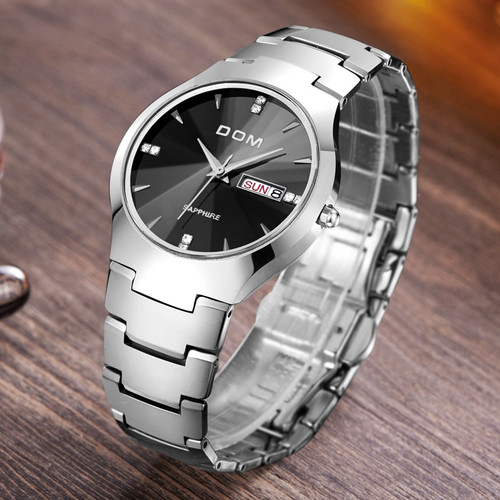 DOM Lovers' watch Luxury Top Brand Men's Watch tungsten steel Wrist Watch waterproof Business Quartz Fashion sport Watches Clock