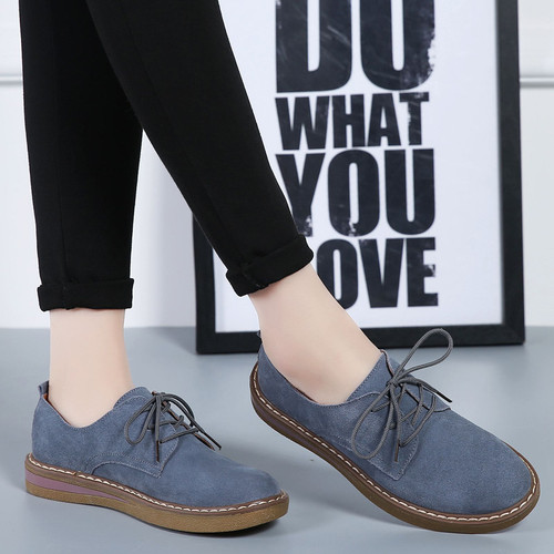 2018 Trend new loafers flat women shoes casual slip on platform shoes woman breathable lace-up flats ladies shoes women sneakers