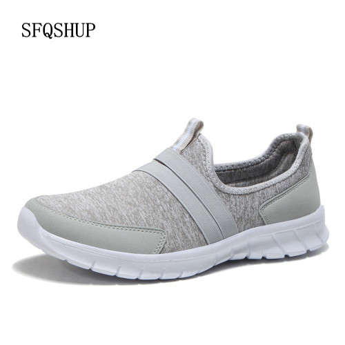 New Arrival Breathable Flat Shoes Women Summer Ladies Casual Shoes Lightweight Gray Soft Sneakers Woman Zapatos Mujer