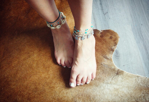 2017 new BAREFOOT SANDALS Boho barefoot beach bohemian anklet Hippie style Ankle bracelet Handmade Gypsy Wedding party jewelry
