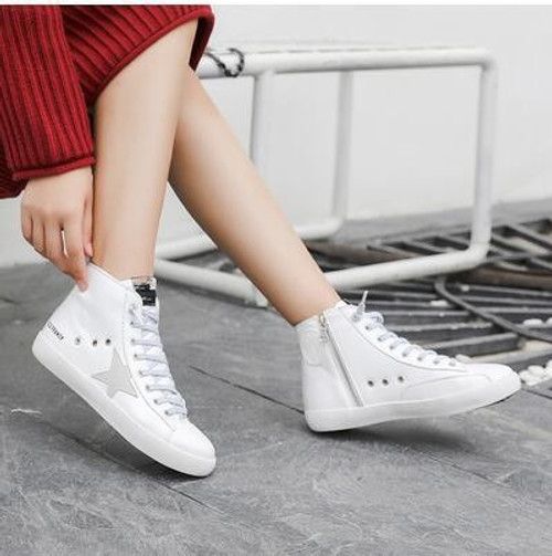 2018 New Arrivals Ankle Small White Dirty Shoes Glitter Espadrilles Lace Up Bling Star Oxford Shoes Women Casual Shoes Loafers