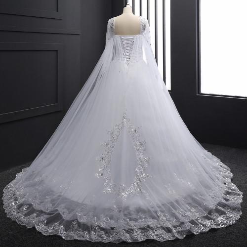 Real Sample 2018 New Bandage Tube Top Crystal Luxury Wedding Dress 2018 Bridal gown wedding dresses Long sleeve DB23002