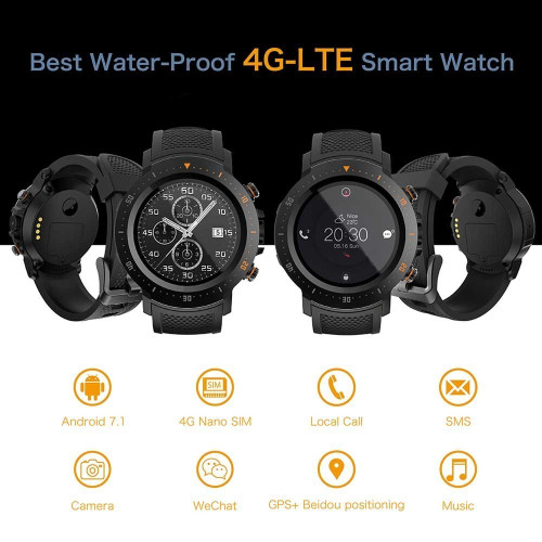 LOKMAT Android SmartWatch Heart Rate monitor 1GB/16GB Bluetooth Waterproof WIFI GPS 4G Men Clock Smart watch For ios