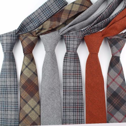 Fashion Men's Colourful Tie Cotton Formal Ties Necktie Narrow Slim Skinny Cravate Narrow Thick Neckties