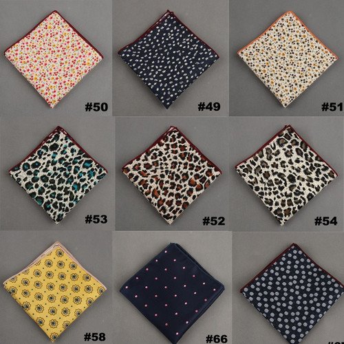Handkerchief Wholesale 2016 Vintage Dot Leopard Cotton Polyester Hankies Pocket Square Pochette Costume For Men Wedding Party