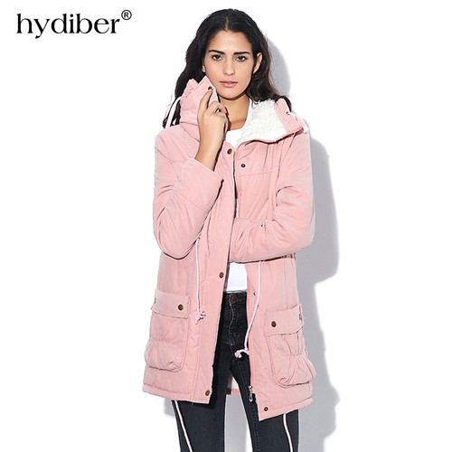 New 2019 Winter Coat Women Slim Plus Size Outwear Medium-Long Wadded Jacket Thick Hooded Cotton Fleece Warm Cotton Parka