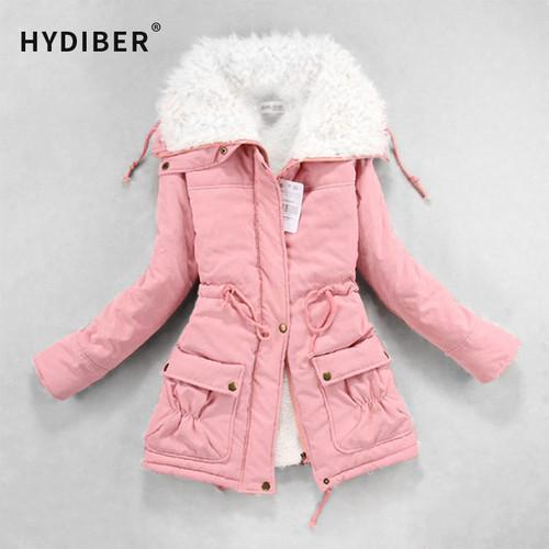 New 2019 Winter Coat Women Slim Plus Size Outwear Medium-Long Wadded Jacket Thick Hooded Cotton Fleece Warm Cotton Parka