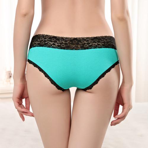 Moonflme 3 pcs/lots New Arrival 2018 Sexy Lace Underwear Cotton Women Briefs Panties 89230