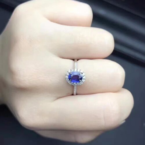 Vintage Engagement Wedding Ring for woman genuine blue topaz ring real 925 Solid Sterling Silver jewelry ring for lady