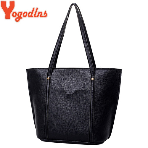 Yogodlns brand 4 pcs set handbag women composite bag female large capacity tote bag fashion shoulder crossbody bag small purse