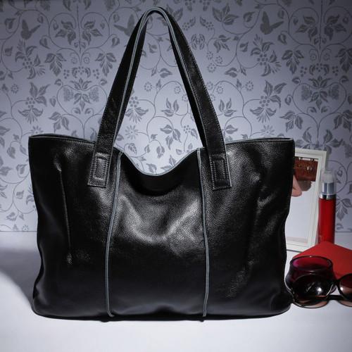 Zency 100% Genuine Leather Handbag Large Capacity Women Shoulder Bag Retro Tote Purse High Quality Hobos Brown Shopping Bags