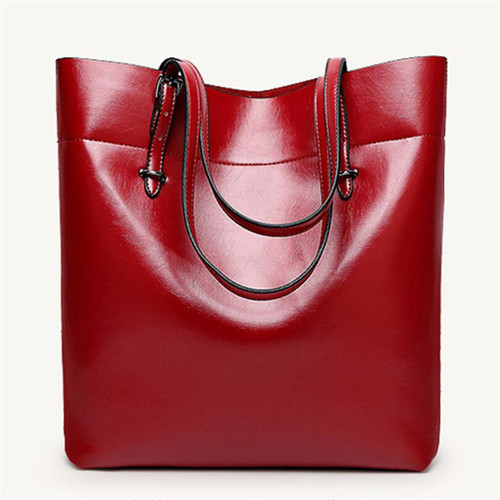 Large Capacity Women Leather Handbag Totes Black Red Blue Ladies Shoulder Bags women's Shoulder Bag Totes Bolsos Mujer W806