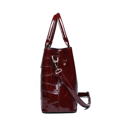 European Fashion Patent Leather Tote Bag 2019 Winter New Dress Women Shoulder Crossbody Bags Large Alligator Female Handbags