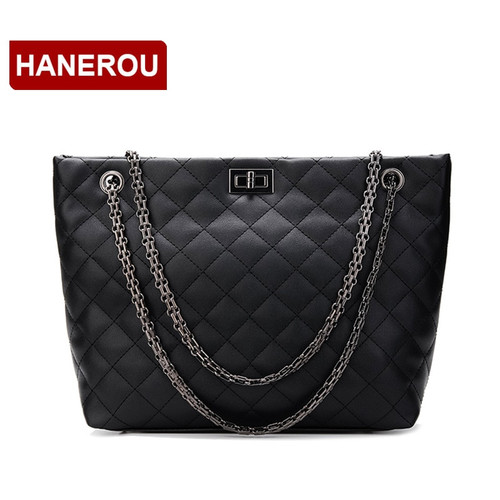 Women Casual Handbag Big Diamond Lattice Chain Bag Large Tote Bag Female Handbags Large Capacity Women Leather Shoulder Bags
