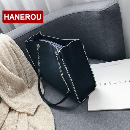 Women Leather Handbags Design Scrub Bag Women Rivet Handbag Large Capacity Chain Shoulder Bag Ladies Tote Bags Bolsas Feminina
