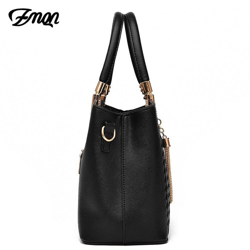 ZMQN Luxury Handbags Women Bags Designer Ladies Solid Shoulder Bag For Women PU Leather Tassel Embroidery Handbags Kabelka B748