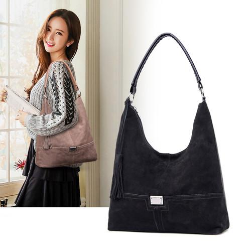 LEFTSIDE Winter Suede Bags For Women 2018 Lady Handbags Top-handle Bags Female Shoulder Bags Retro Tassel Crossbody Bag New Hot