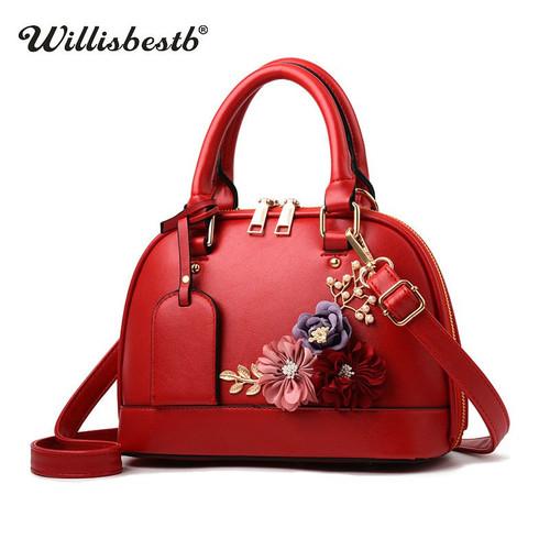 Fashion Shell Flower Women Handbag Leather Luxury Crossbody Bags Clutch Lady Messenger Bags Summer Casual Female Shoulder Bag