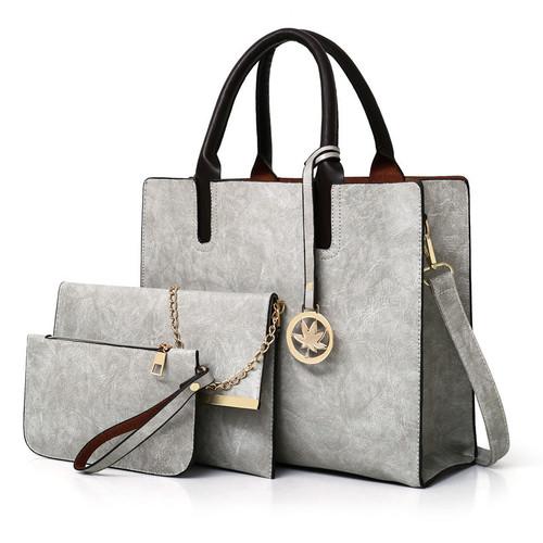 ATAXZOME 3Pcs/Set Composite women Tote Shoulder bags Large luxury handbags designer famous brand PU Leather Big bag Female Purse