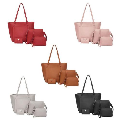THINKTHENDO 4pcs/set Shoulder Bags Women Tote Purse Leather Handbag Messenger Satchel Set Luxury Handbags Women Bags Designer