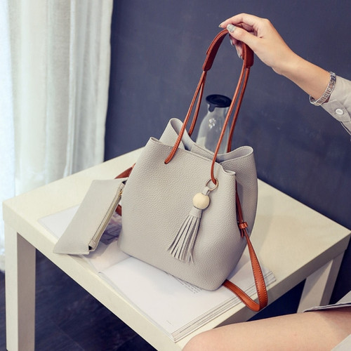 THINKTHENDO New 2pcs Women Leather Handbag Fashion Crossbody Bags Shoulder Bag Tote Small Purse Messenger Clutch