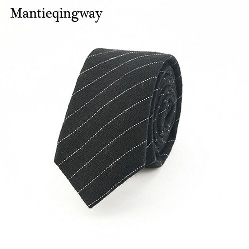 Mantieqingway Brand Plaid and Striped Men Skinny Ties Fashion Corbatas Plaid Neck Ties 6CM Narrow Tie for Party Neck Tie for Men