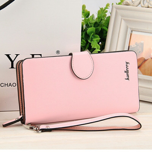 Baellerry Autumn New Korean Version of Lady's Wallet Multi-function Large-capacity Long Zipper Purse Mobile Phone Bag