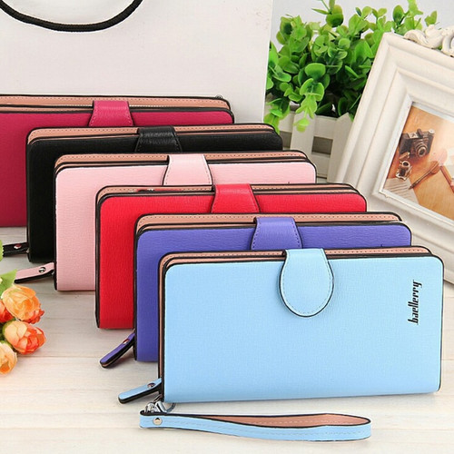 Women Wallets Leather Long Coin Purses Female Card Holder Phone Zipper Pocket Money Bags Ladies Clutch Wallets