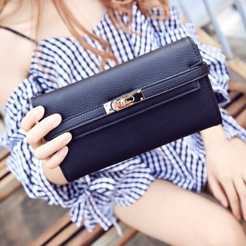 2018 Fashion leather wallet dollar price luxury purses women wallets designer high quality card holder famous brand clutch