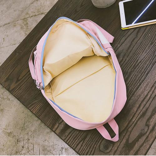 2018 MENGHUO Brand Design Badge Women Backpack Bag Fashion School Bag for Girls Female Chain Backpack Lady Shoulder Bag Mochilas