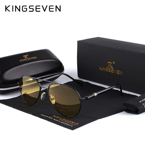 Mens Polarized Night Driving Sunglasses Men Brand Designer Yellow Lens Night Vision Driving Glasses Goggles Reduce Glare